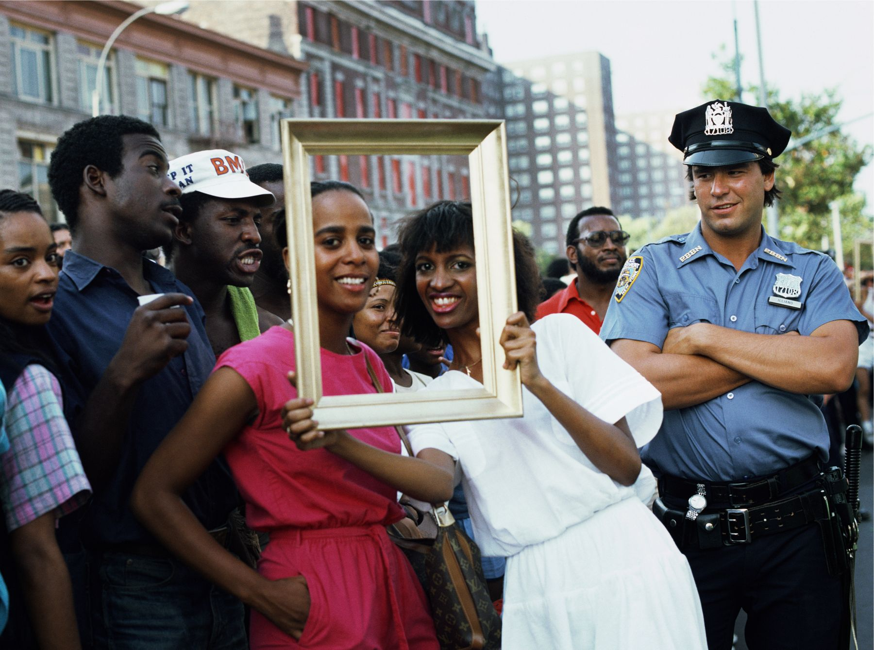 Art Is. . . (Woman with Man and Cop Watching), 1983/2009, C-print