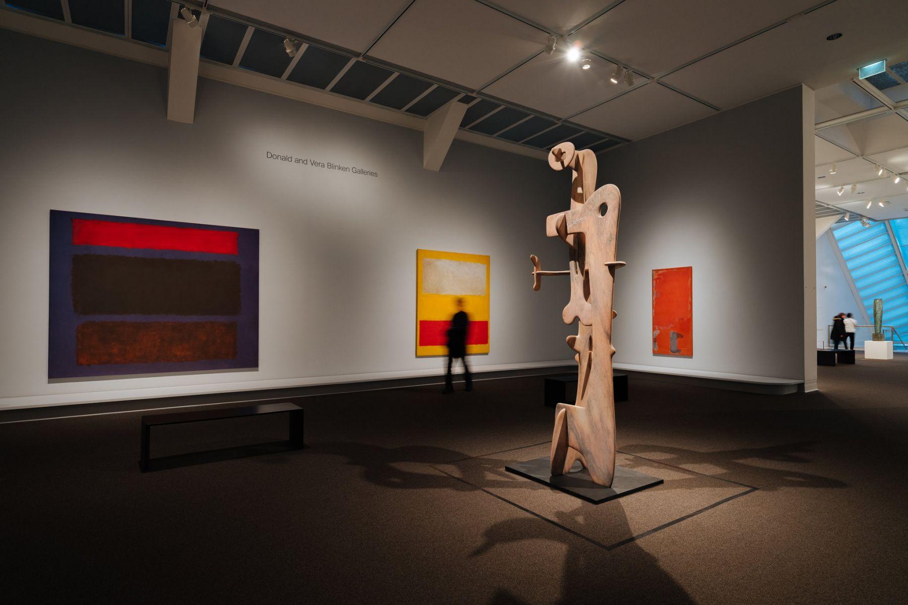 Epic Abstraction: Pollock to Herrera, installation view, Metropolitan Museum of Art(2018)