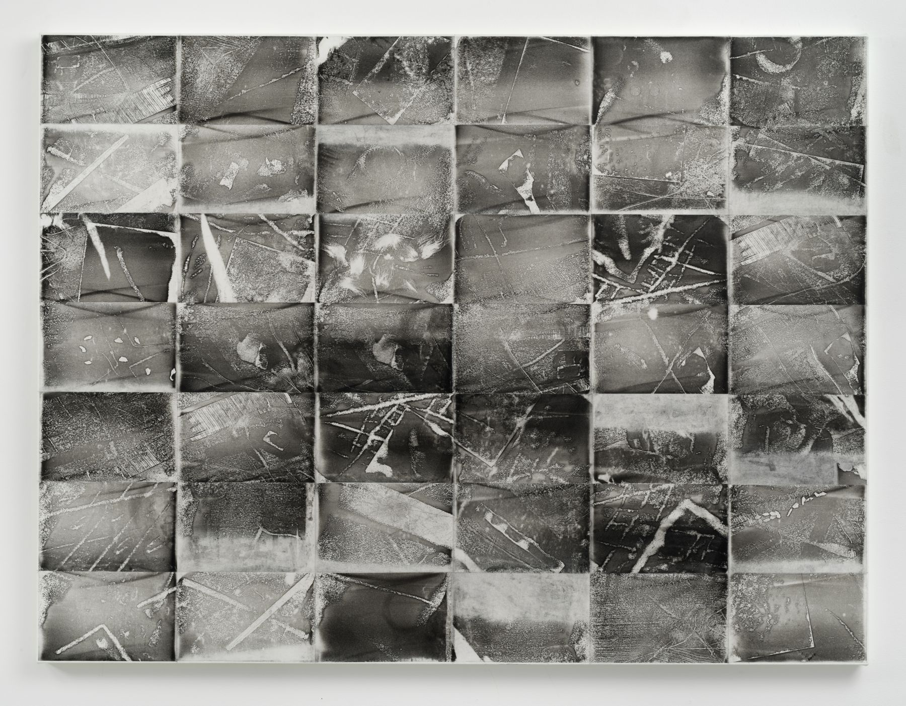 Jack Whitten, Xeroxed! III, 1975