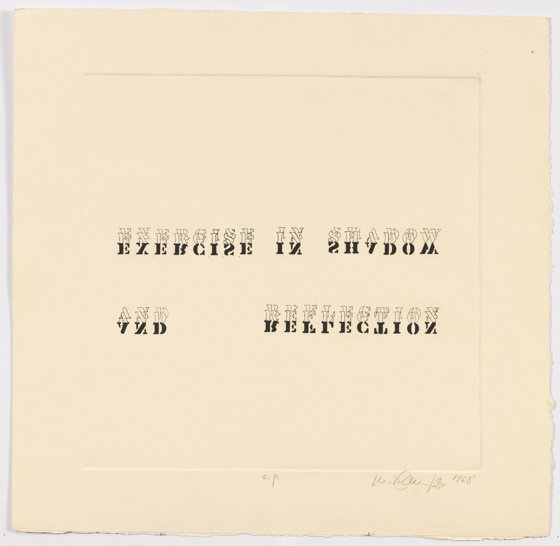 Luis Camnitzer, Exercise in Shadow and Reflection, 1968