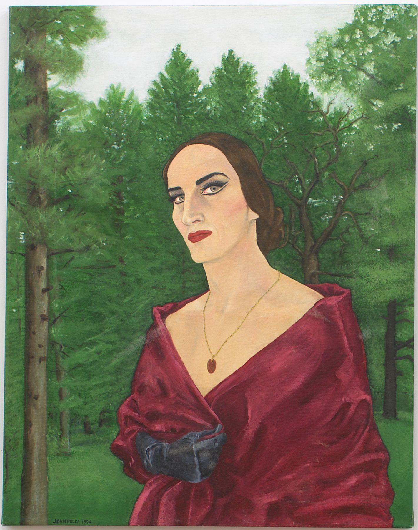 Self Portrait as Dagmar Onassis, 1994, Oil On Canvas