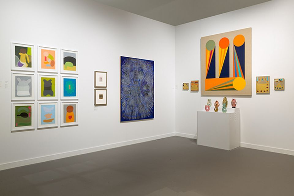 Exhibition view of Fleisher/Ollman at Independent New York, 2018.