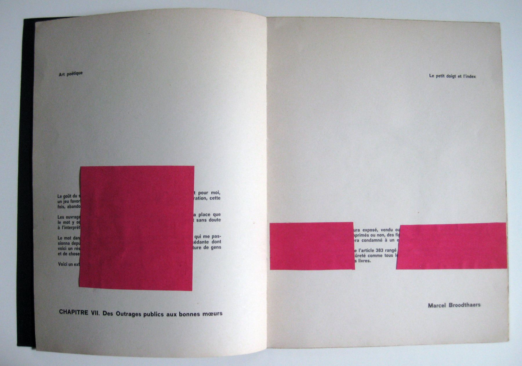 """MARCEL BROODTHAERS. """"Pense Bete"""". 1964. Image courtesy of Alden Projects™, New York."""