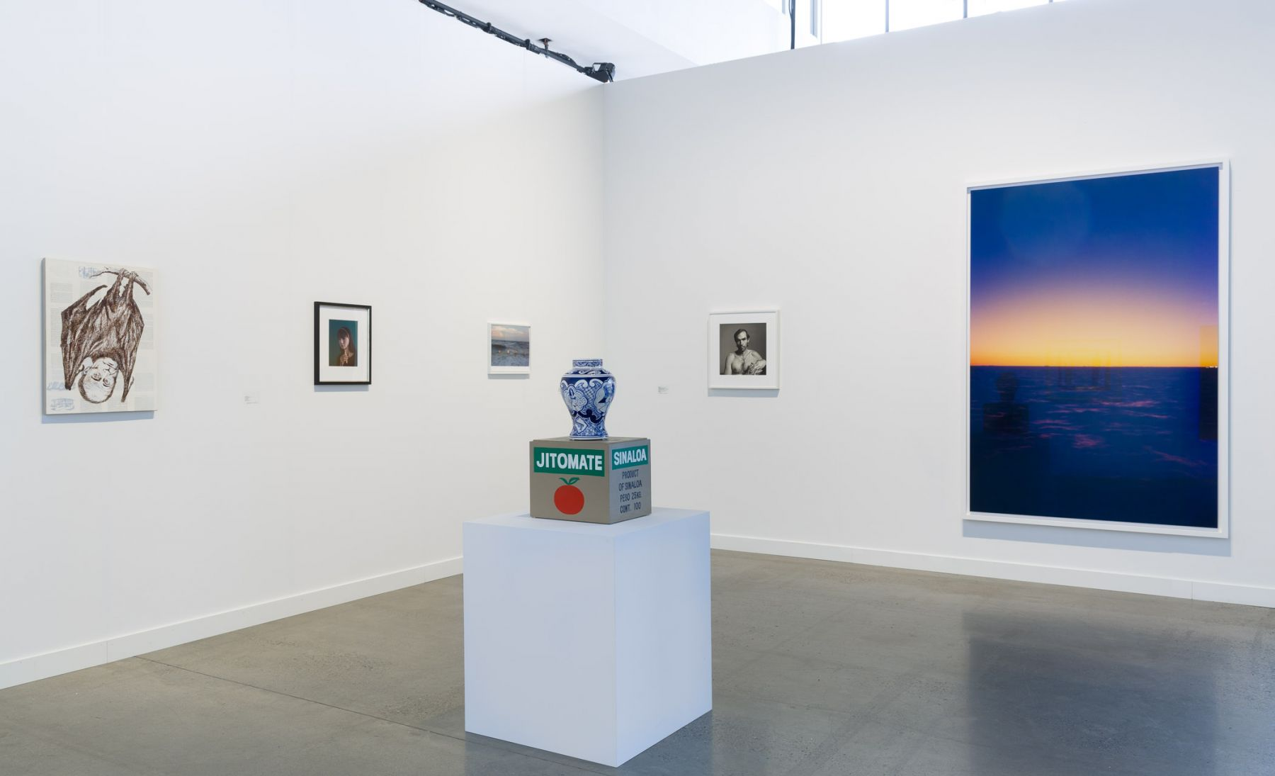 Exhibition view of Maureen Paley at Independent New York, 2018.