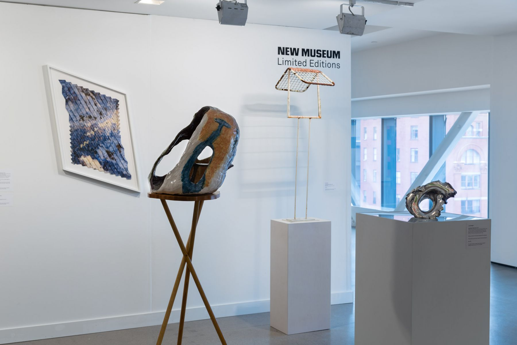 Exhibition view of New Museum at Independent New York, 2018.