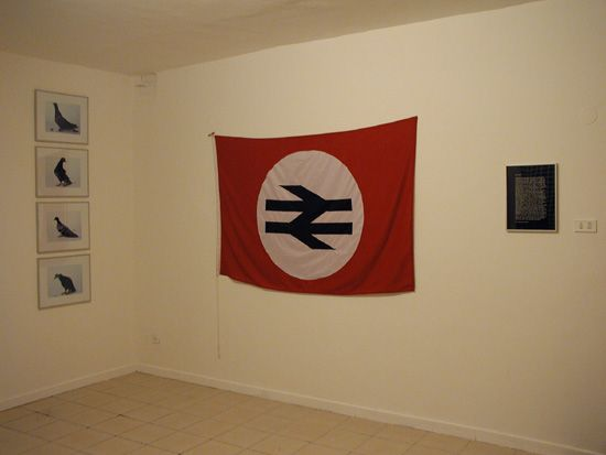 Scott King, Supportico Lopez's first exhibition - Naples 2003