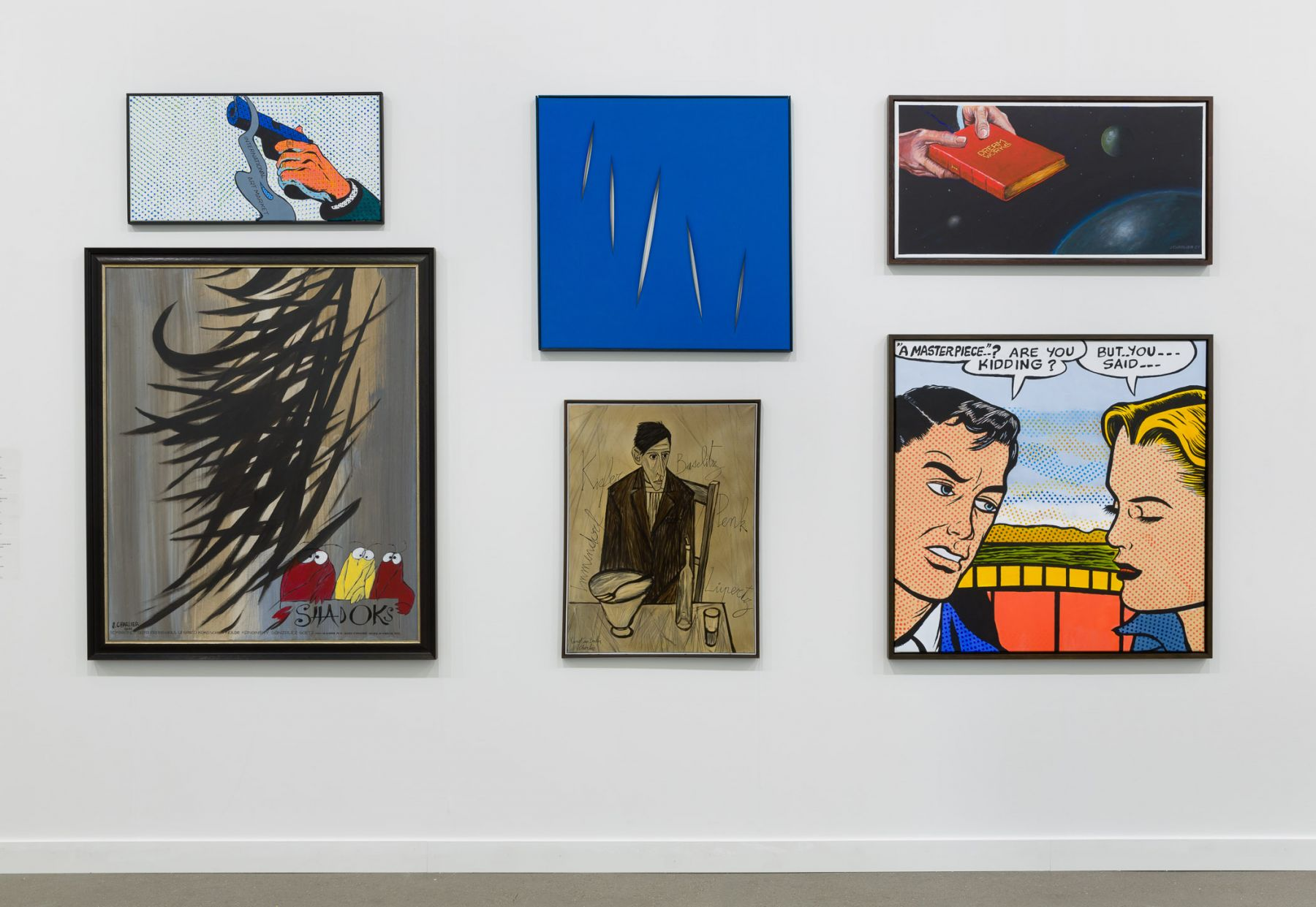 Jacques Charlier Exhibition view of Hervé Bize at Independent New York, 2018.