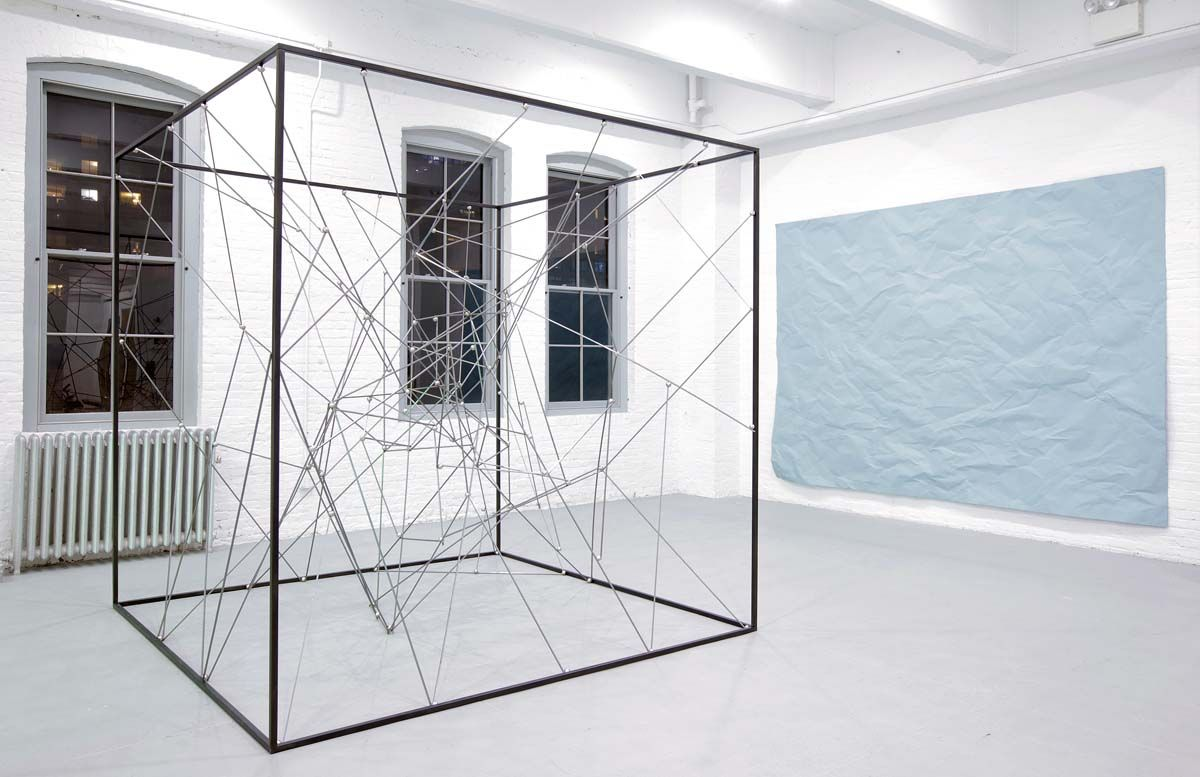 Installation view of sculpture by Michel François at Bortolami Gallery's boothat the second edition of Independent New York in 2011. Photography: Tom Powell imaging.