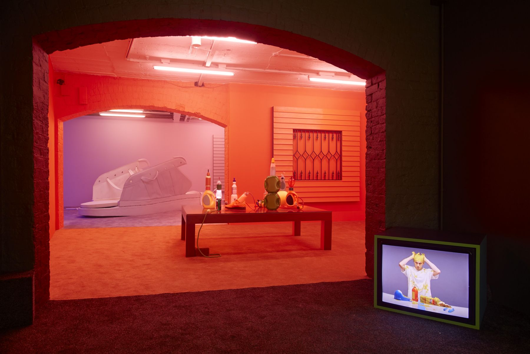 Alex Da Corte, BAD LAND, installation view, Josh Lilley, London, November 2017. Courtesy the artist and Josh Lilley, London
