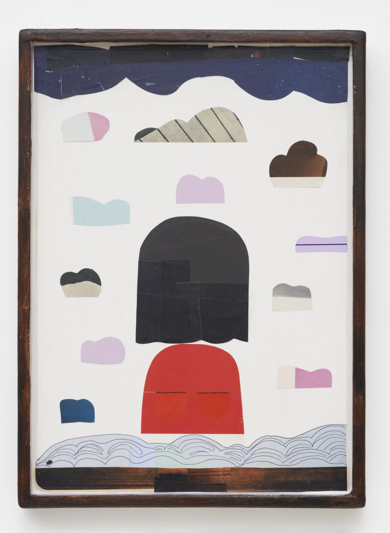 Nel Aerts Captain Lonely, 2015-2016 Collage and pen on paper in artist made frame 45.5 x 33 cm (NA71)