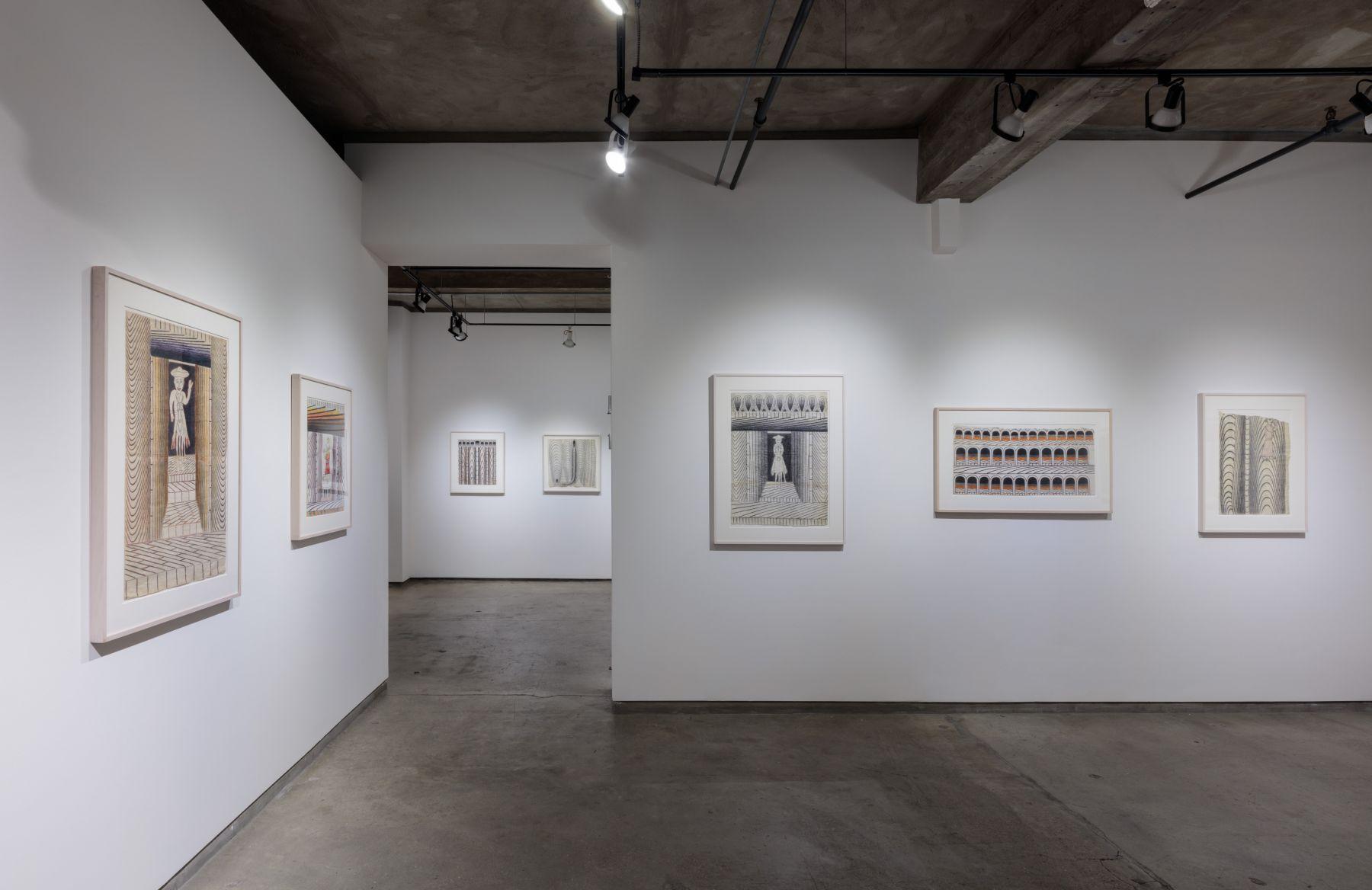 Installation views, Martín Ramírez at Ricco/Maresca Gallery