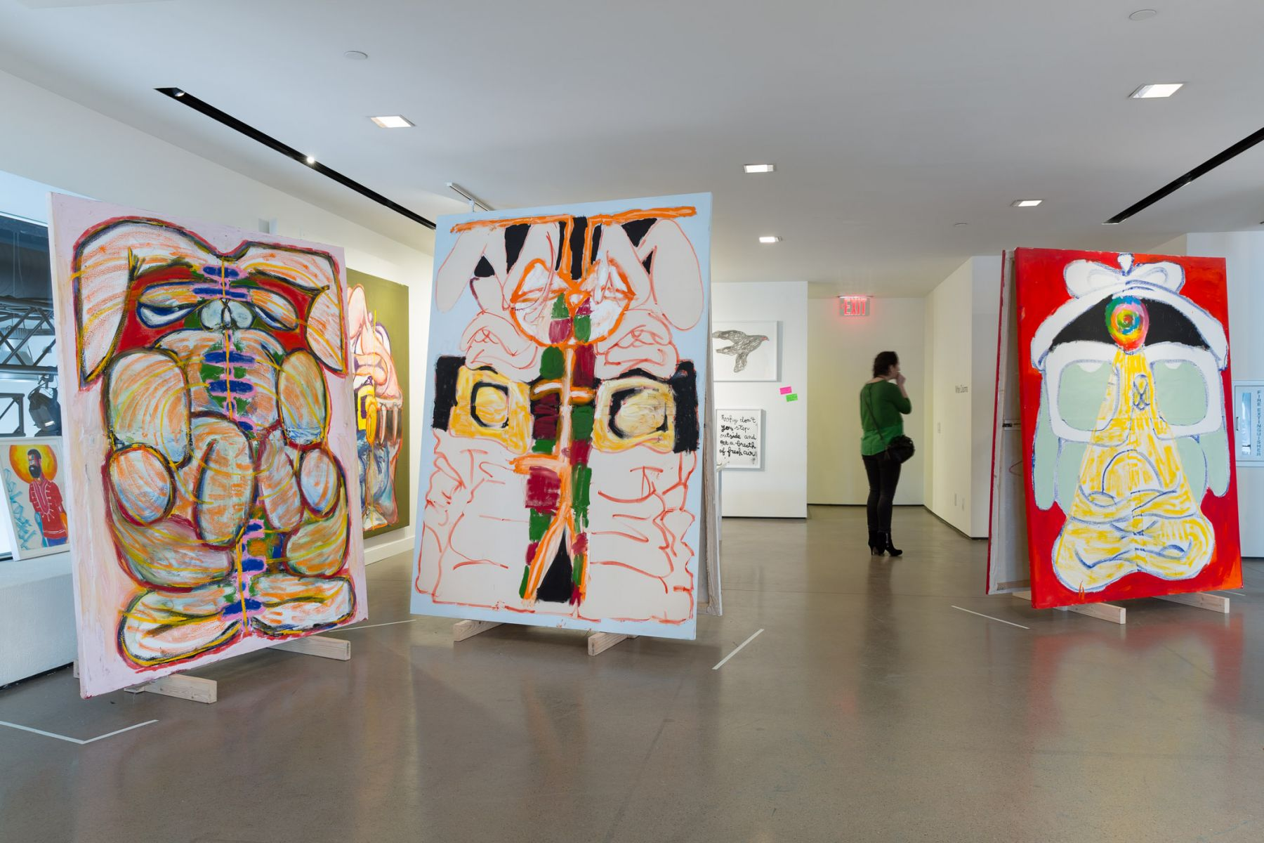 Exhibition view of White Columns at Independent New York, 2018.