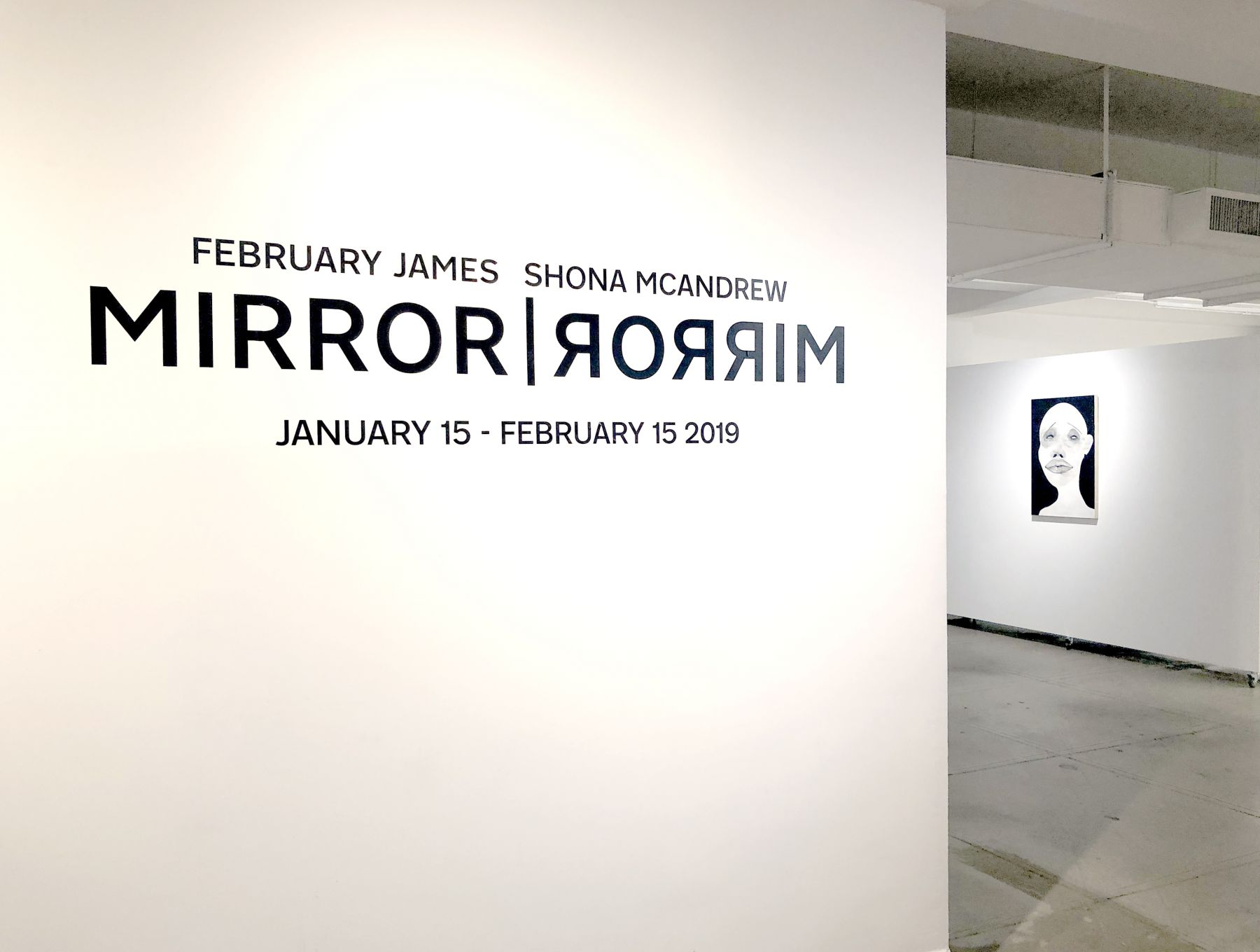 """February James Installation view of the exhibition """"MIRROR