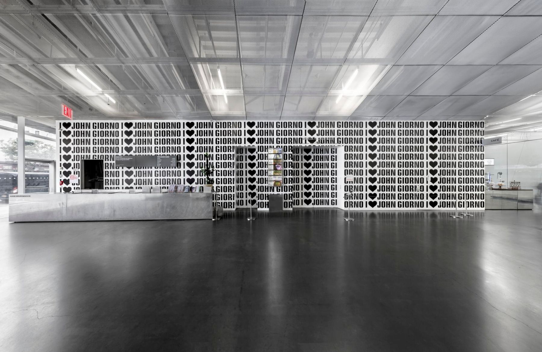 Ugo Rondinone, I Love John Giorno installation views, 2017