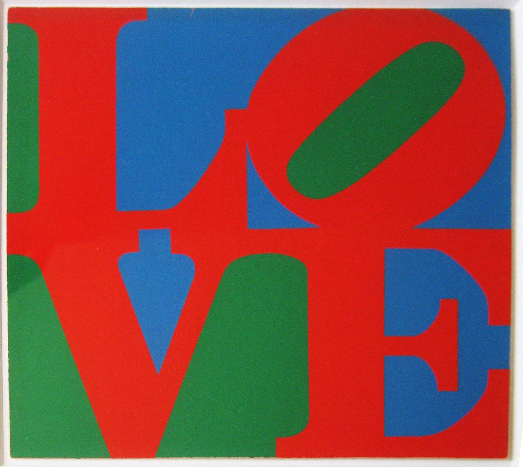 """ROBERT INDIANA. """"Love"""" (MoMA). 1965. Image courtesy of Alden Projects™, New York."""