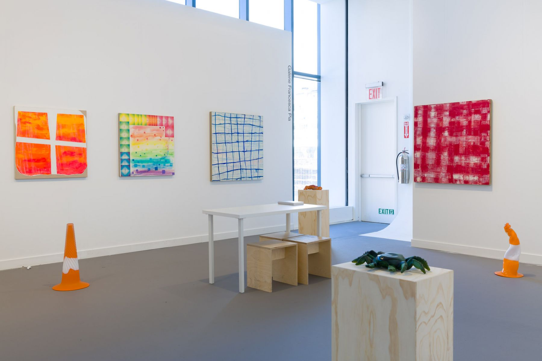 Exhibition view of Galerie Francesca Pia at Independent New York, 2018.