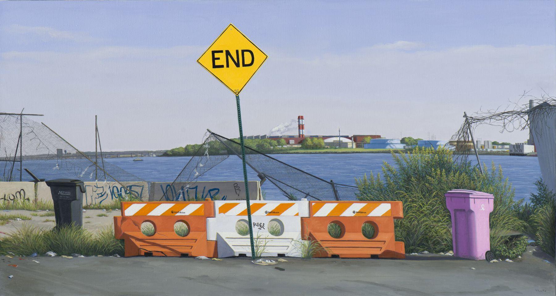 END, E 132nd Street, Bronx, 2015, Oil on linen