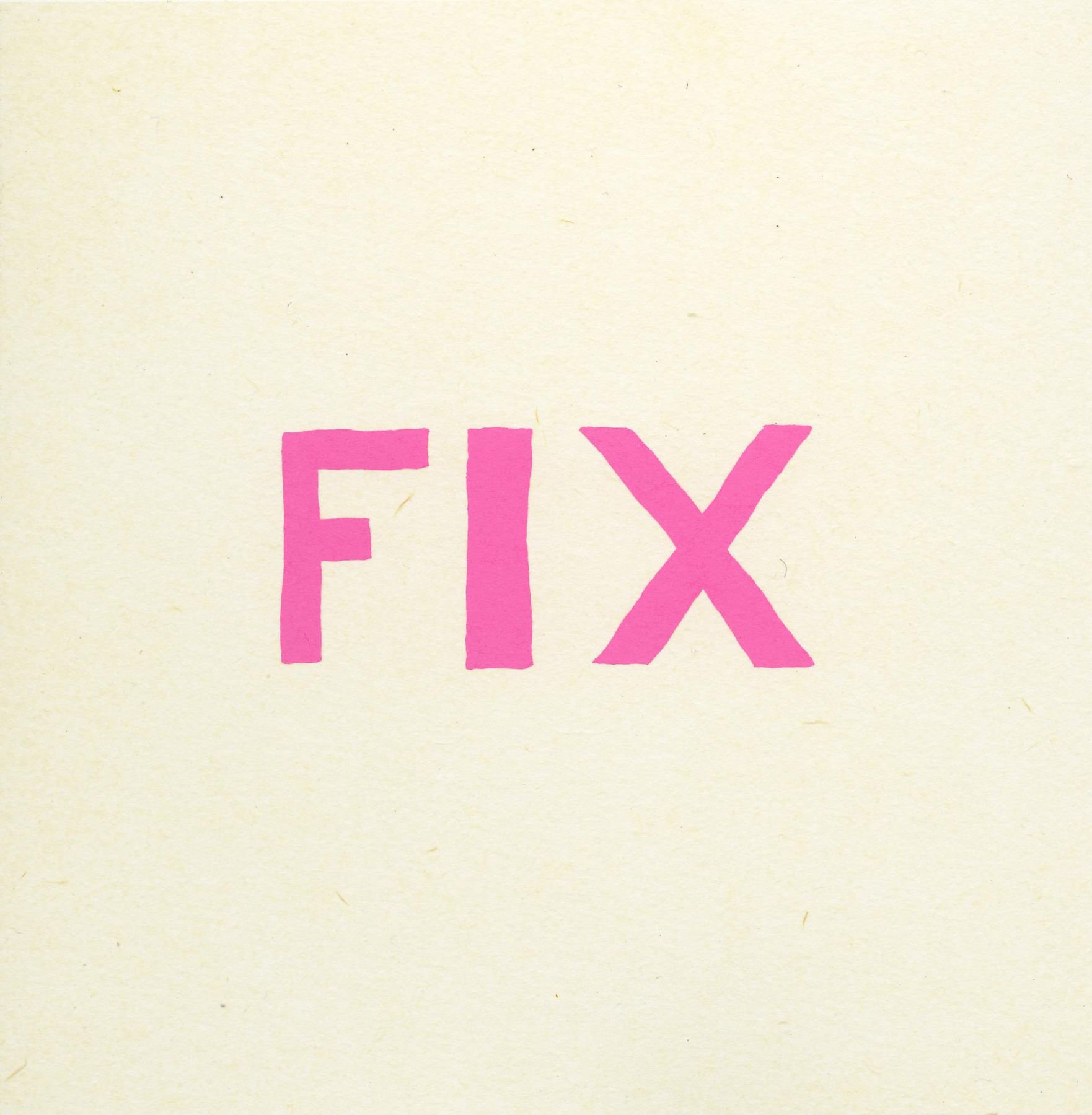 , Title page from Fix portfolio