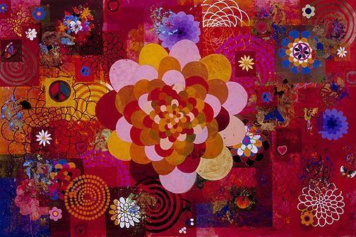BEATRIZ MILHAZES, Phebo, 2004, Acrylic on canvas 78 5/8 x 118 1/8 inches