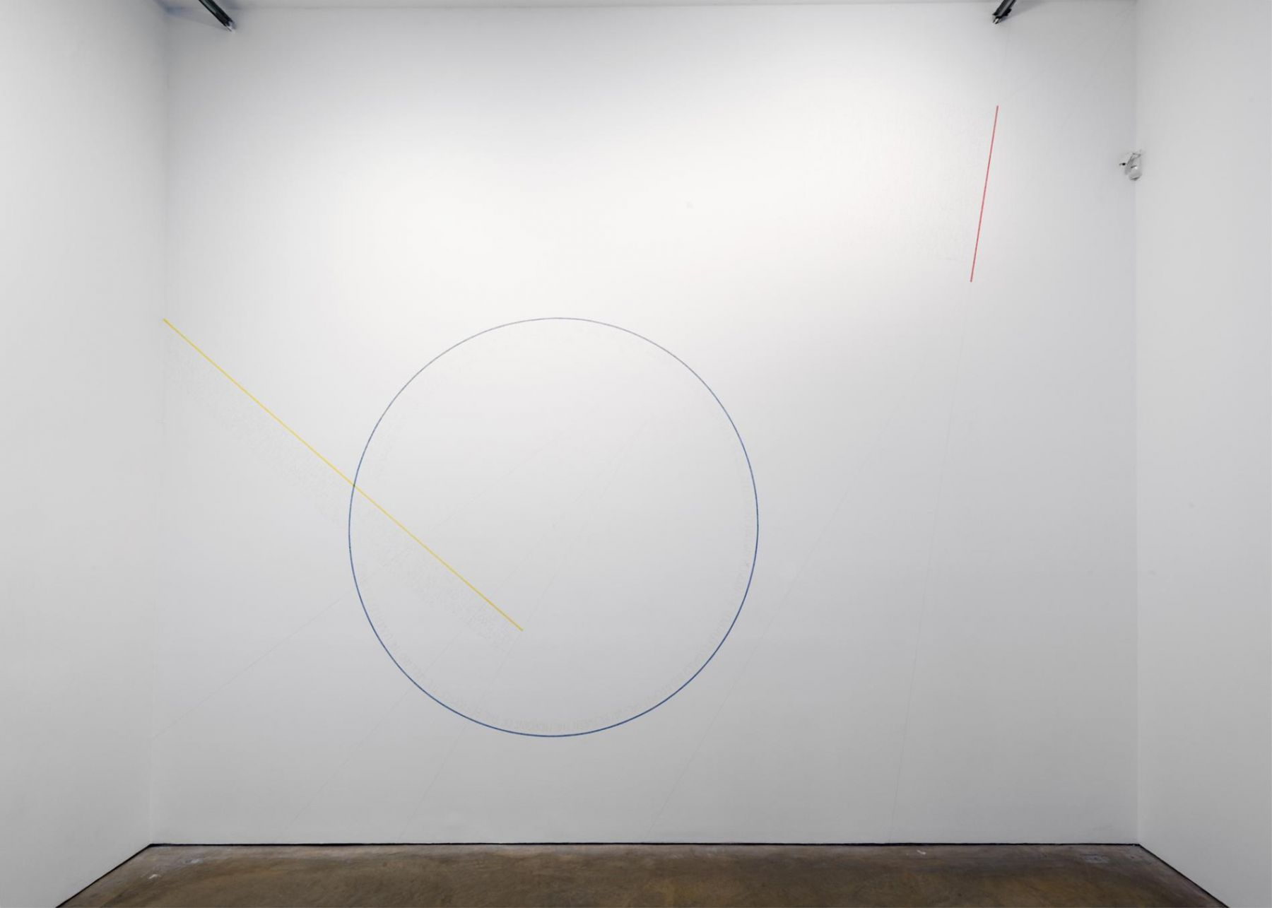 , SOL LEWITT Wall Drawing #283, 1976 Red, yellow, and blue crayon Dimensions variable  Courtesy of the Estate of Sol LeWitt and Paula Cooper Gallery, New York