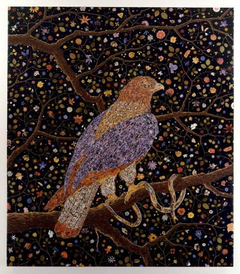 FRED TOMASELLI Avian Flower Serpent, 2006