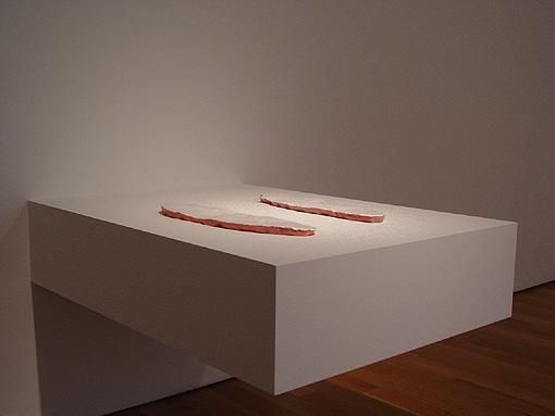 ERICK SWENSON, Killer Whale (White Parts), 2003, polyurethane, acrylic, wood, steel, 10 1/2 x 33 x 45 inches