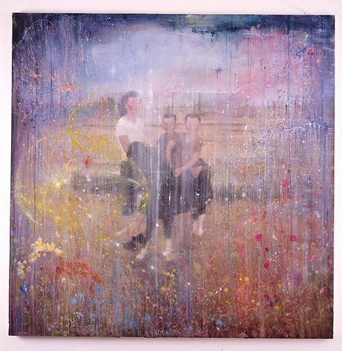 MANFREDI BENINATI, Addaura, 2004, oil on canvas, 78 3/4 x 78 3/4 inches