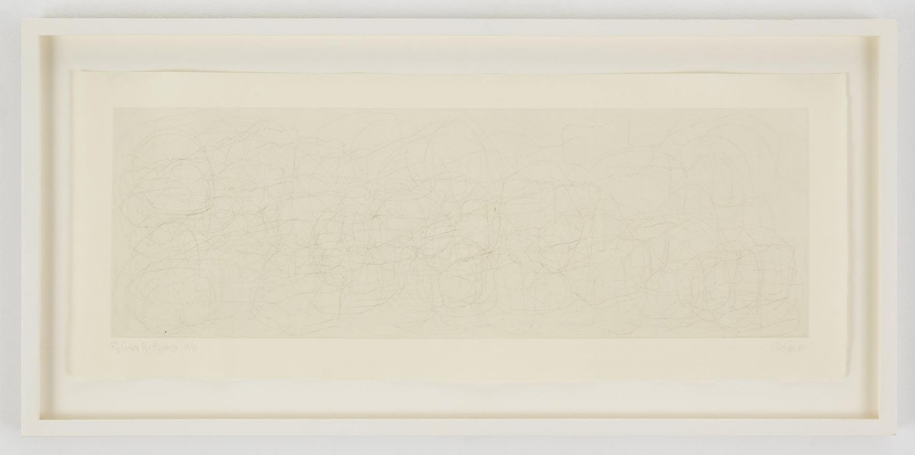 , JOHN CAGE (Where R = Ryoanji), 1983 Drypoint, Set of 4 Each: 9 1/4 x 23 1/4 in. (23.5 x 59 cm) Edition of 25
