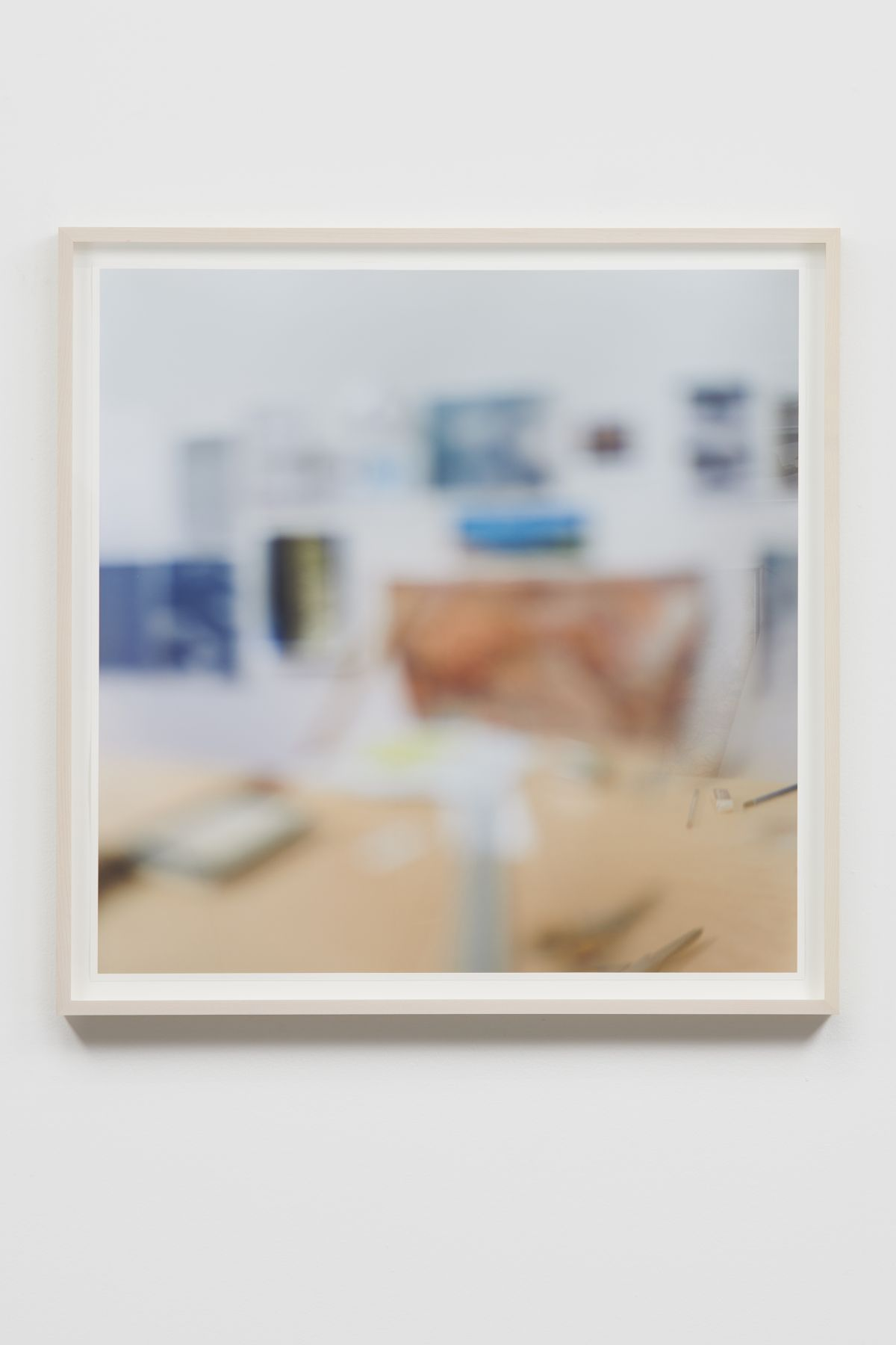 SPENCER FINCH, Trying to See Clearly (studio wall through my right spectacle lens)