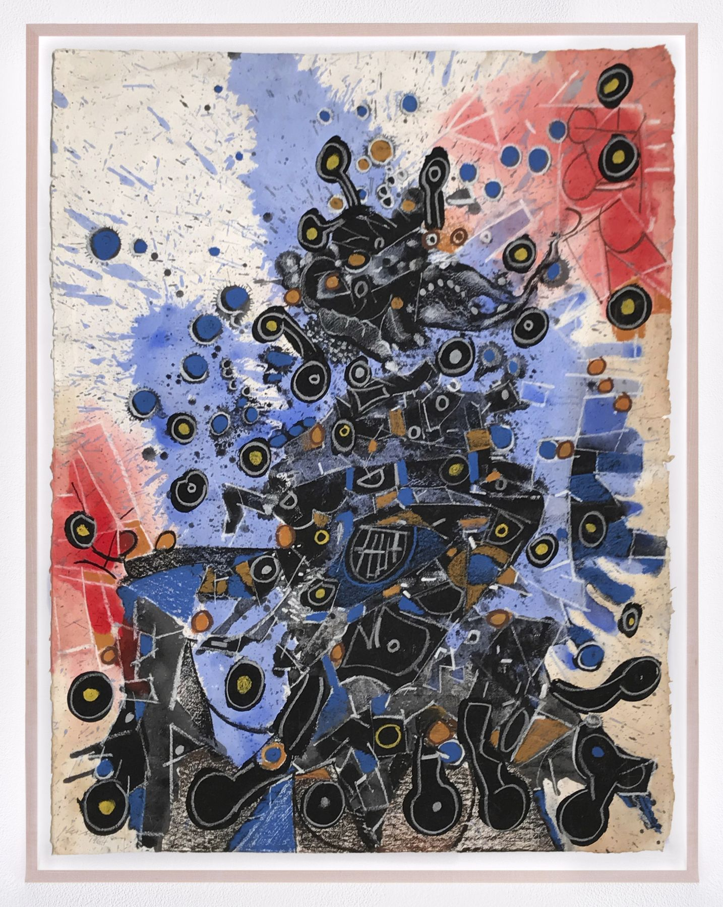 LEE MULLICANUntitled1966Oil, acrylic, and pastel on paper24 1/4 x 19 3/4 in.61.6 x 50.2 cmJCG9279