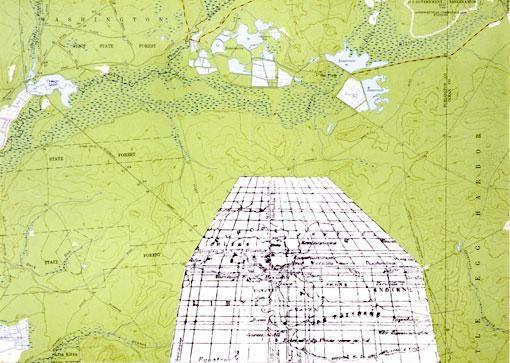 Ruin of Map Hipparchus (100 B.C.) in Oswego Lake Quarangle (1954-55), 1967