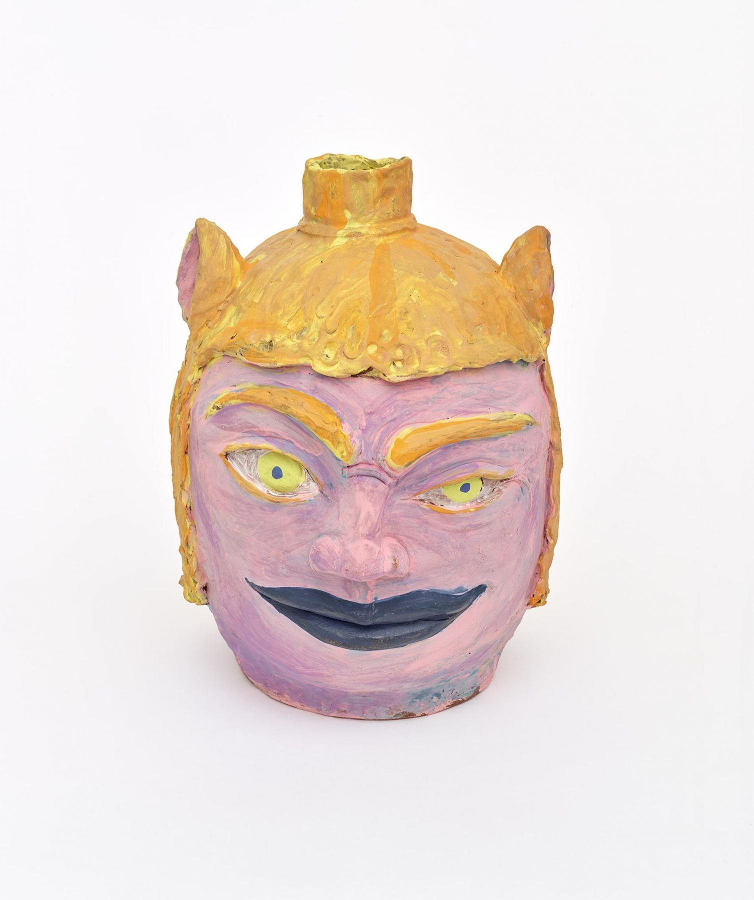 , Kat, 2008, Earthenware and colored slips and glazes, 16 1/2 x 12 x 14 in.