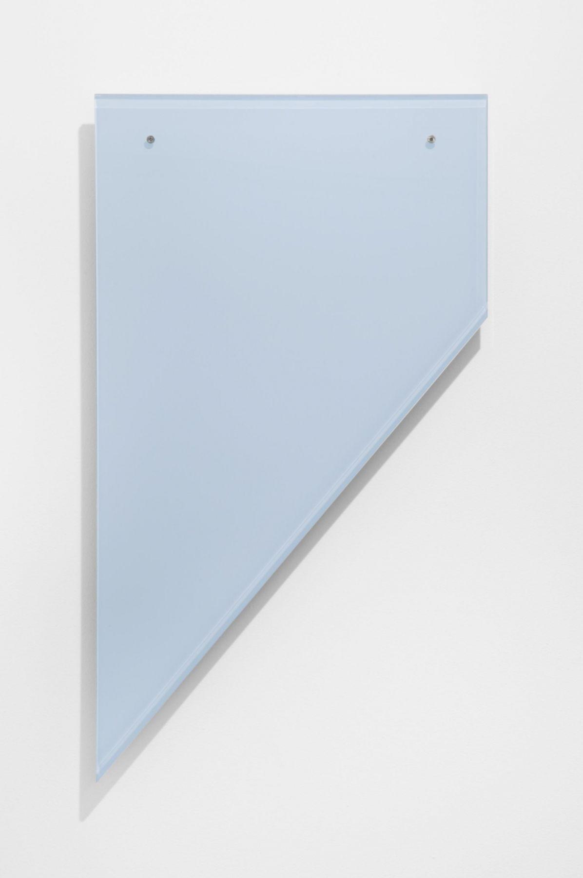 , HEATHER ROWE Untitled (Luminous Cloud), 2014 Plexiglass, paint 21 x 37 x 3/4 in. (53.3 x 94 x 1.9 cm)