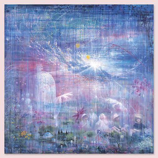 MANFREDI BENINATI, Mondello, 2004, oil on canvas, 78 3/4 x 78 3/4 inches