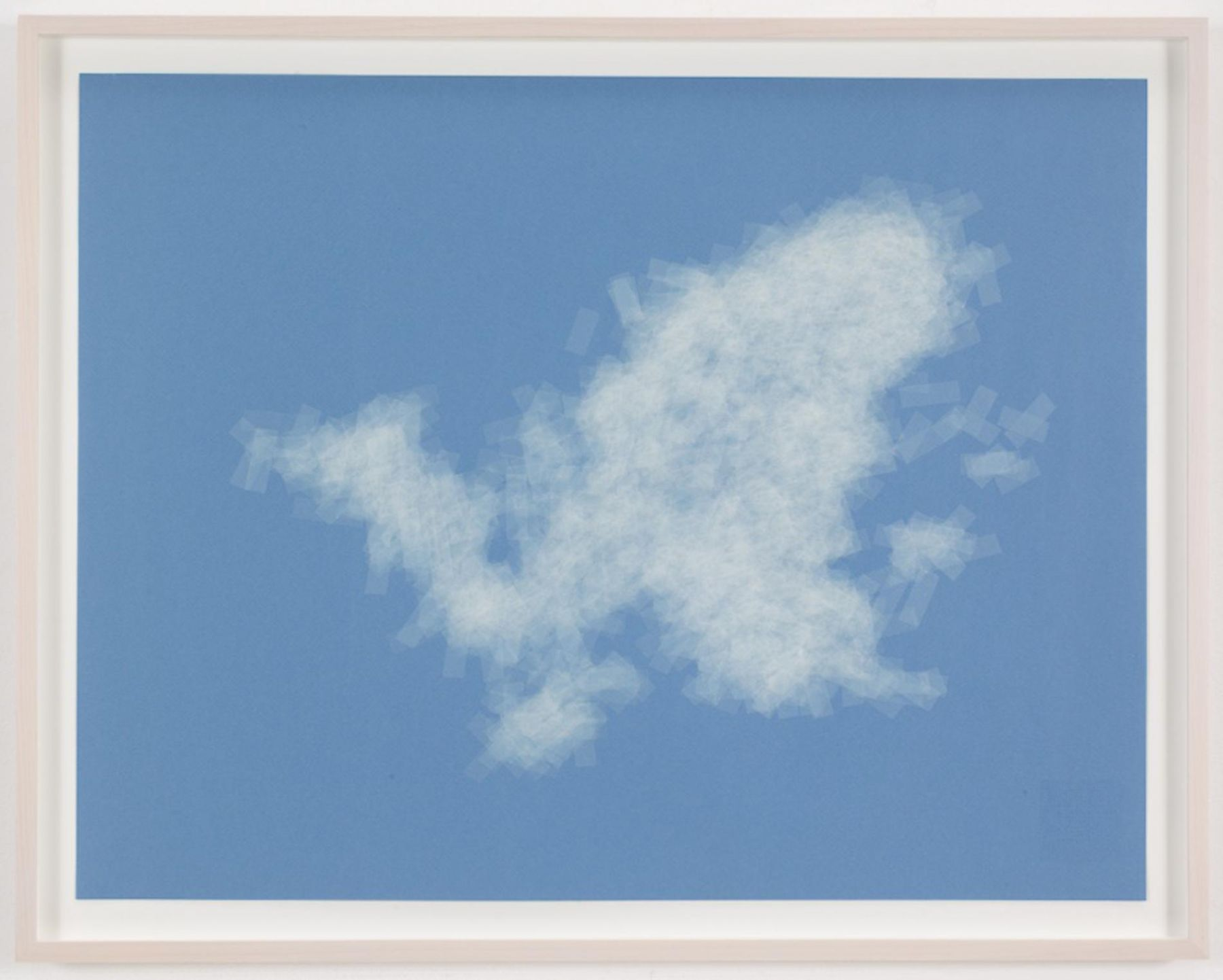 , SPENCER FINCH, Cloud (cumulus congestus, Vermont), 2014, Scotch tape on paper, 19 3/4 x 25 1/2 in. (sheet) 21 5/8 x 27 1/2 in. (framed)