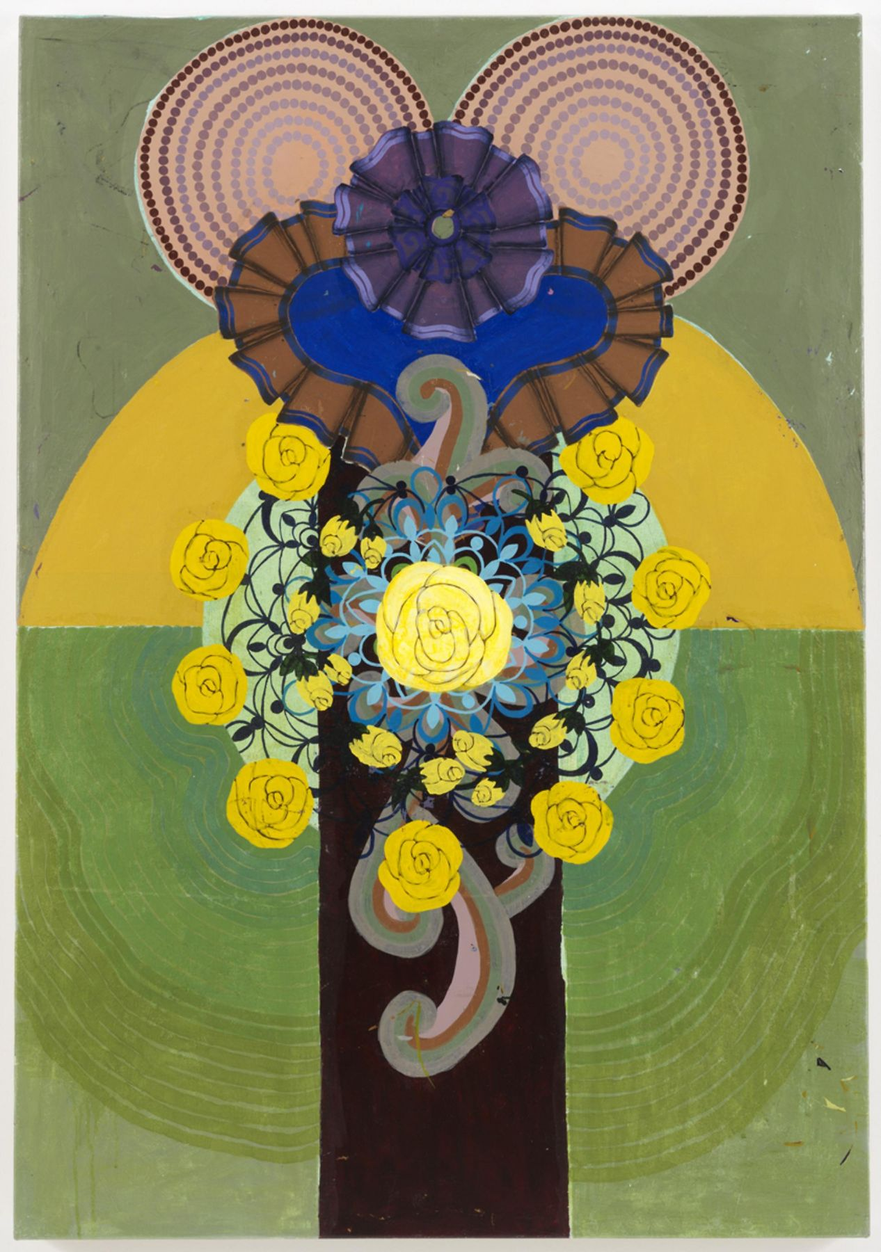 , BEATRIZ MILHAZES Ipê Rosa, 1997 Acrylic on canvas 51 x 35 1/2 in. (129.5 x 90.2 cm)
