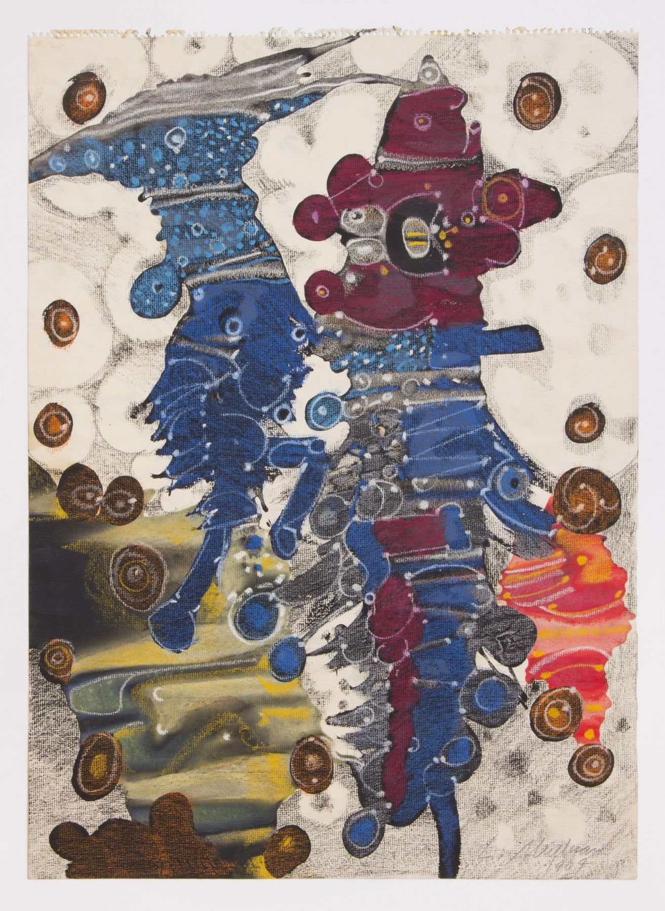 , LEE MULLICAN, Wedding Dance, 1964, Mixed media, 24 x 18 in