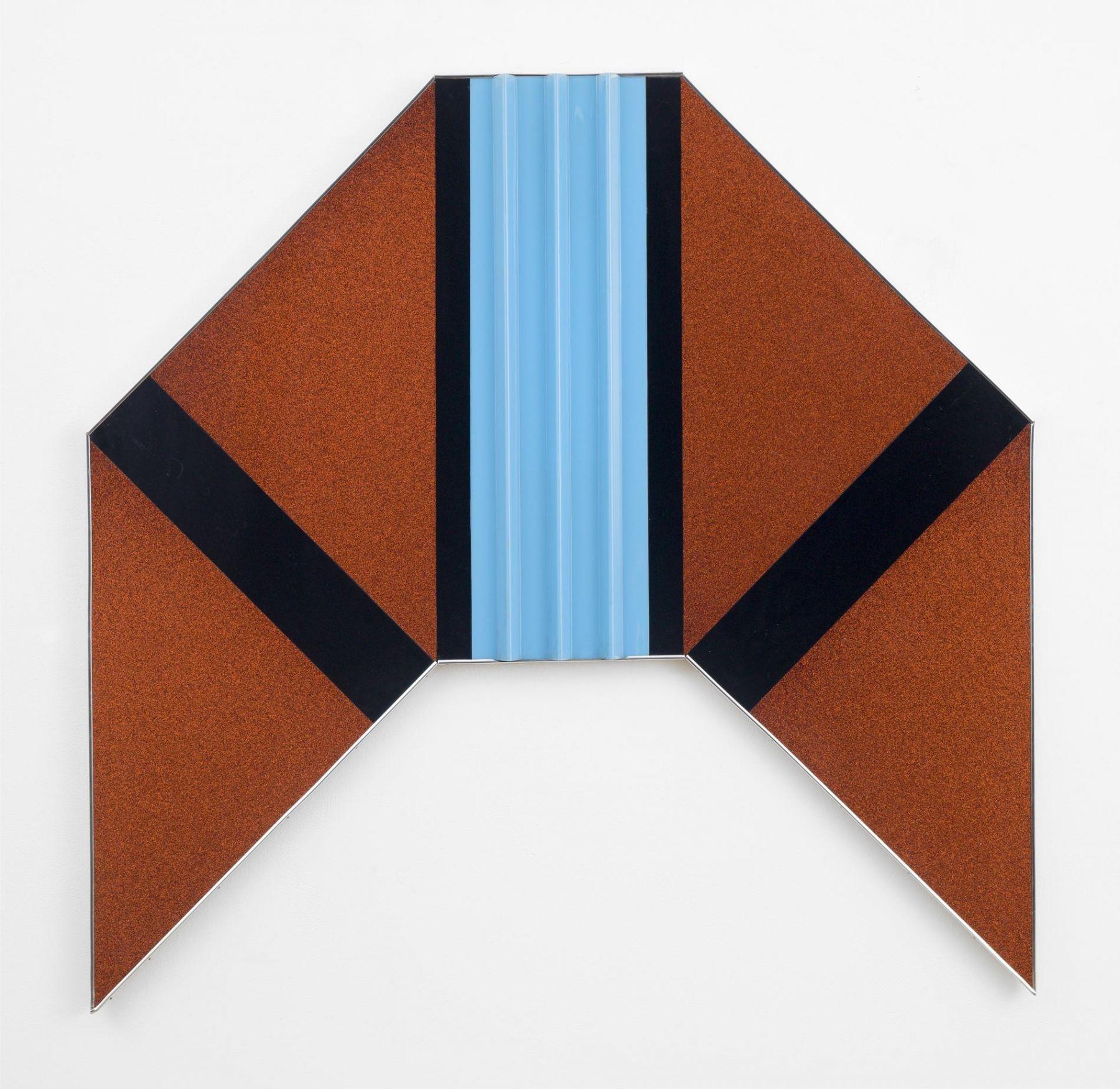 , ROBERT SMITHSON,Quick Millions, 1965,Red, glitter, light blue, black plastic panels, 54 x 56 in.