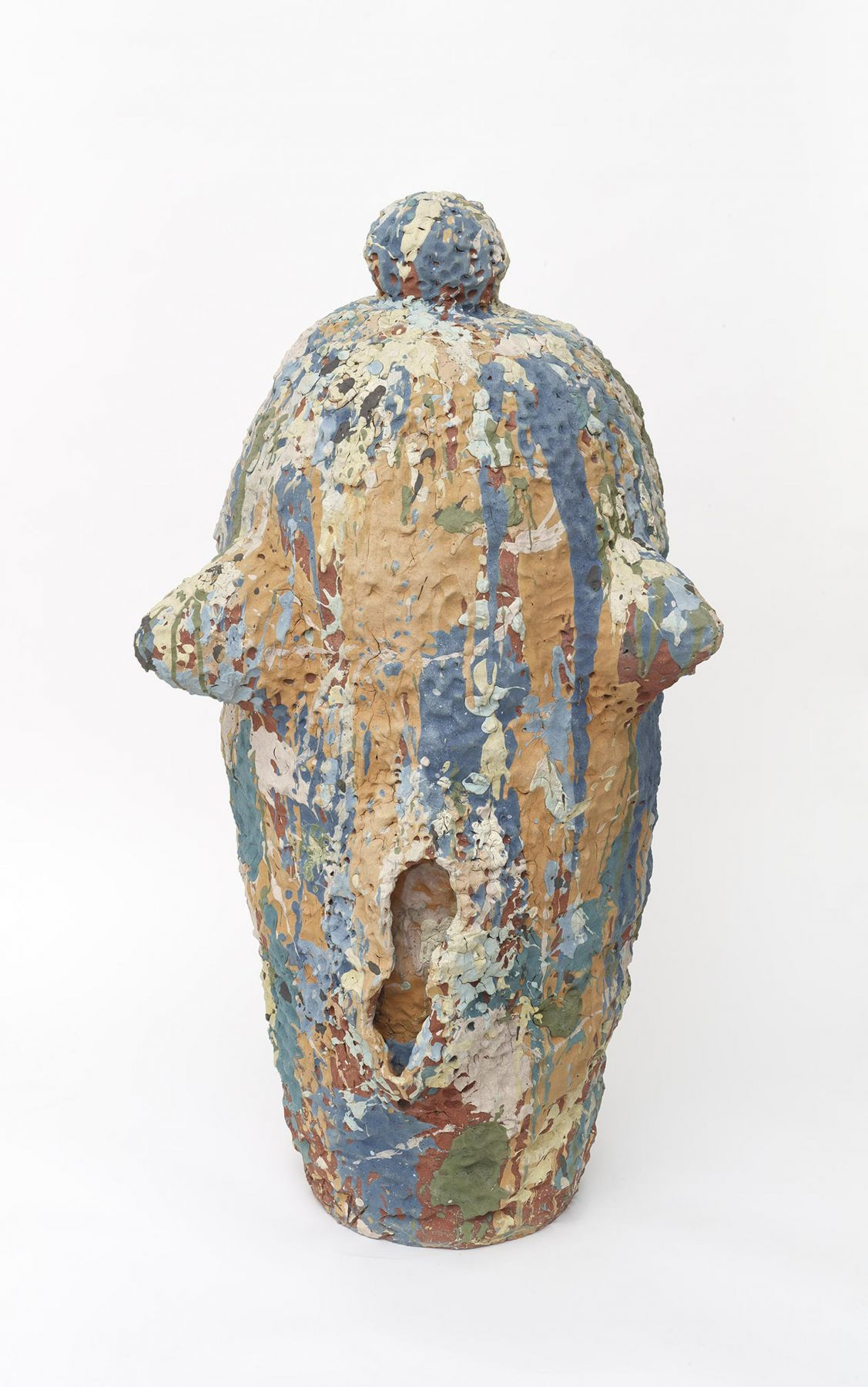 , Chubby Bunny, c.1987, Stoneware and colored slips, 48 x 24 1/4 x 24 in.