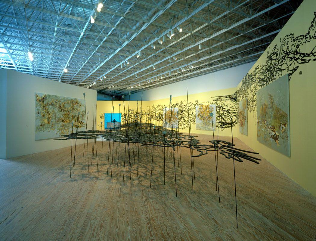 Installation view:Matthew Ritchie: Proposition Player, MASS MoCA, North Adams, MA, 2004-2005