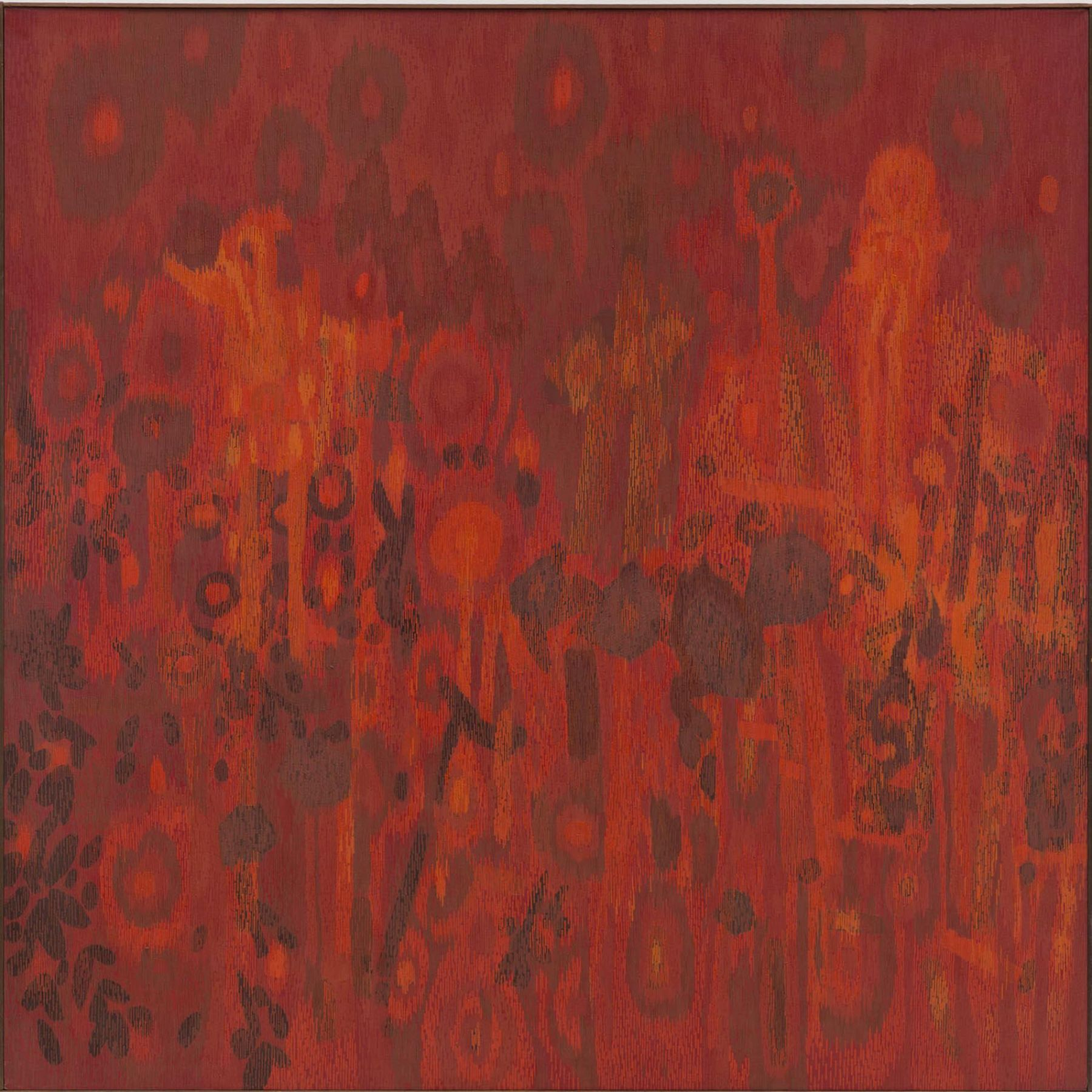 , LEE MULLICAN, Transfigured Night, 1962 , oil on canvas, 75 x 75 in.