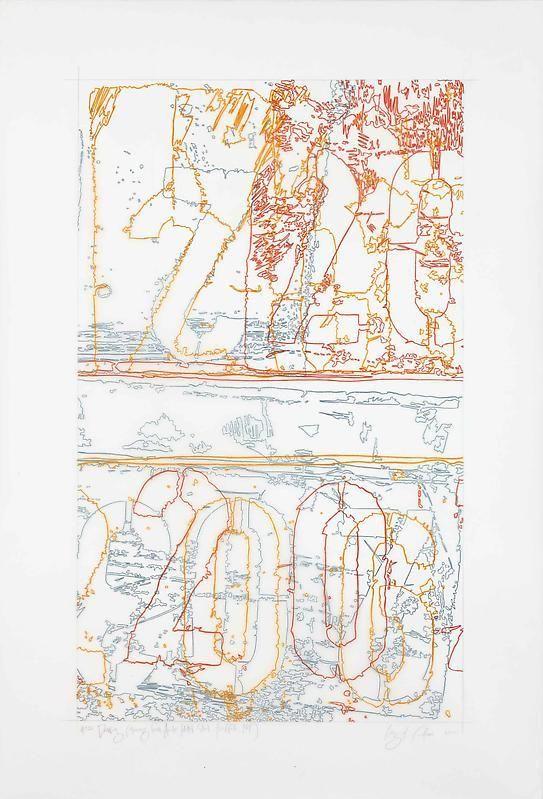 "INGRID CALAME英格丽•卡兰 #321 Drawing (Tracings from ArcelorMittal Steel, Buffalo, NY) 绘ç""»321号(从纽约水牛城阿塞洛-ç±³å¡""å°""é'¢é""å¾—到描图),2008"