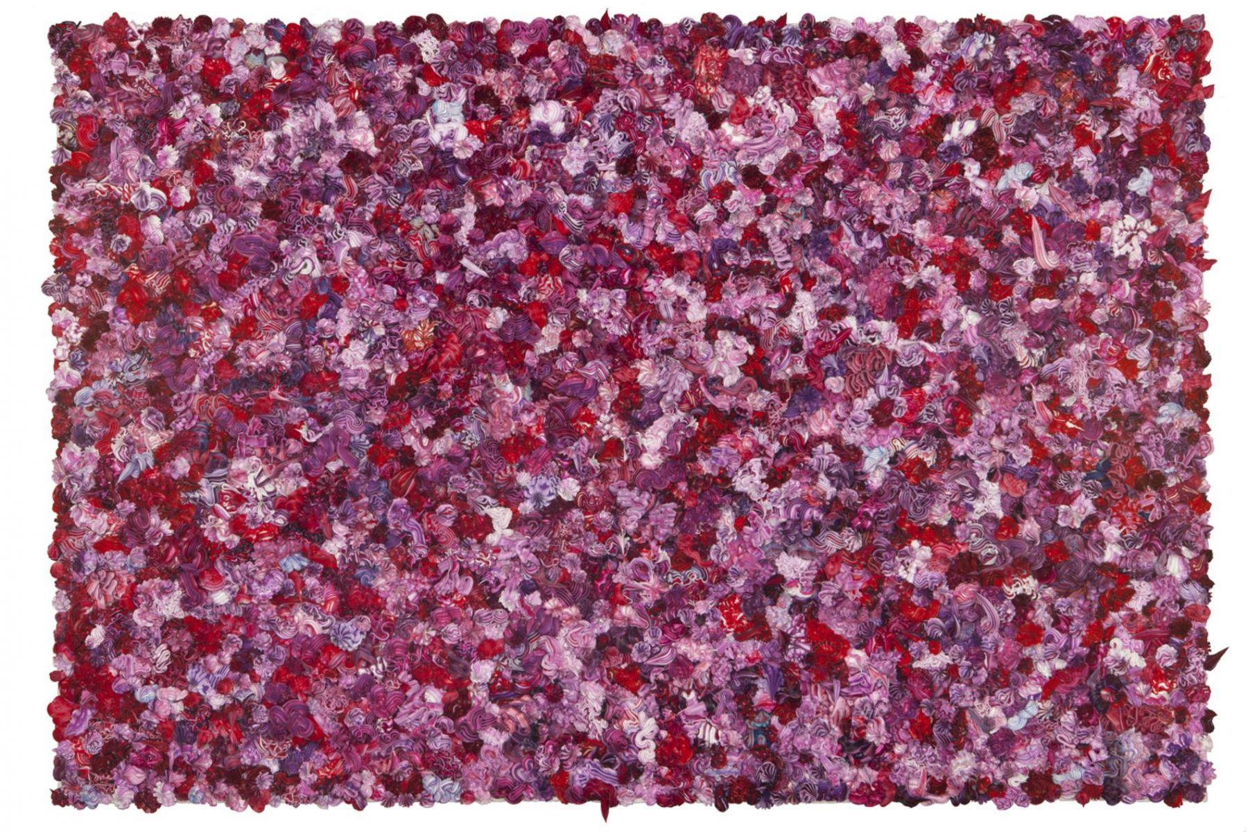 , XU ZHENUnder Heaven -- 3228IN0144,2014Oil on canvas, aluminum37 3/8 x 55 1/16 x 4 5/16 in. (95 x 140 x 11 cm)
