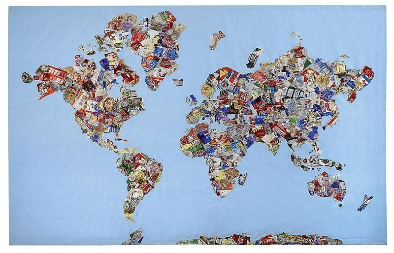 GAVIN TURK Mappa Del Mundo, 2008