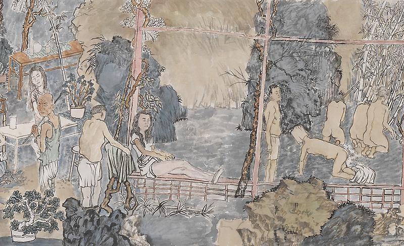 YUN-FEI JI The Garden Party (Detail), 2009