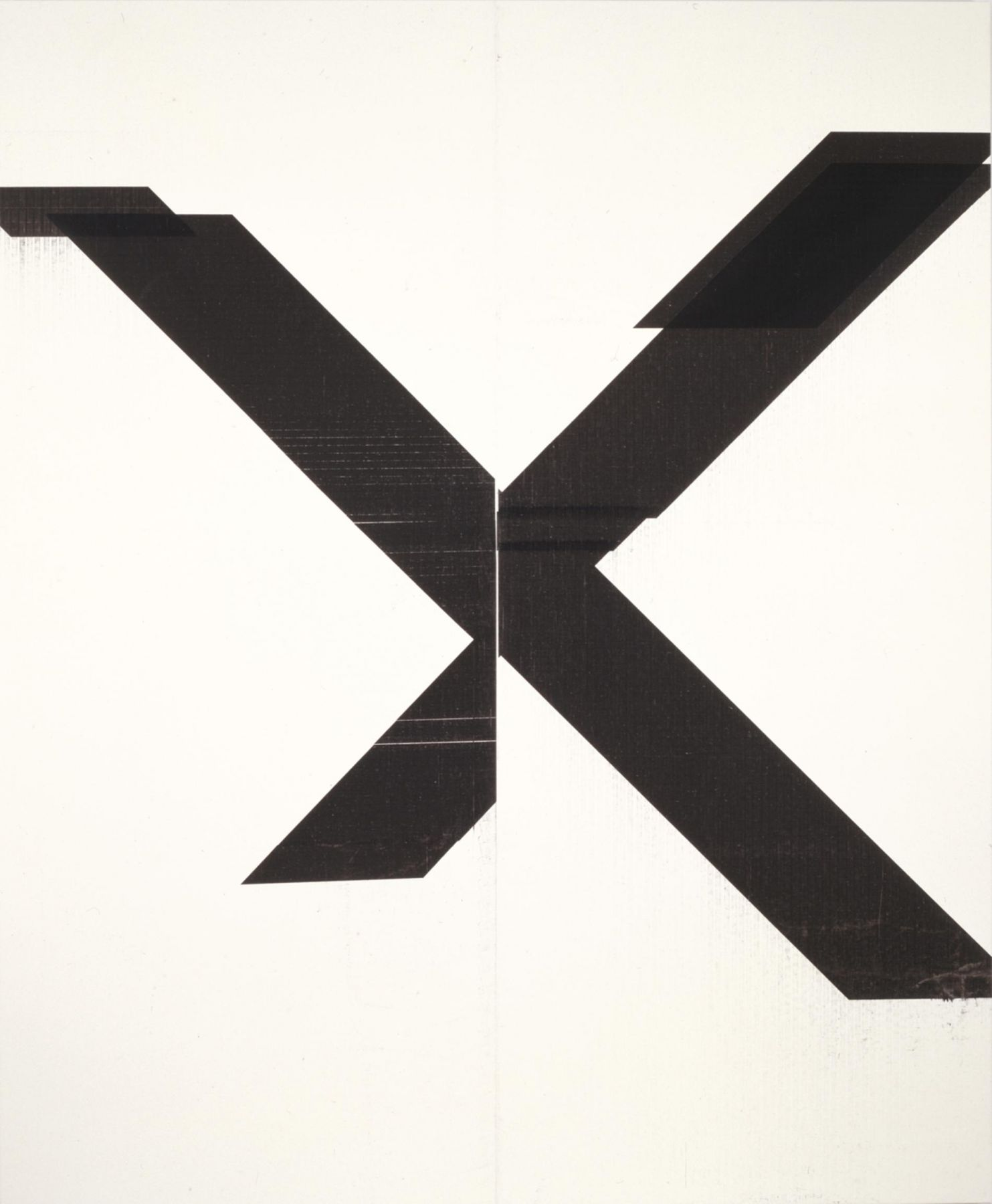, WADE GUYTON Untitled, 2007 Epson UltraChrome inkjet on linen 84 x 69 in. (213.4 x 175.3 cm) Image courtesy of Friedrich Petzel Gallery, New York