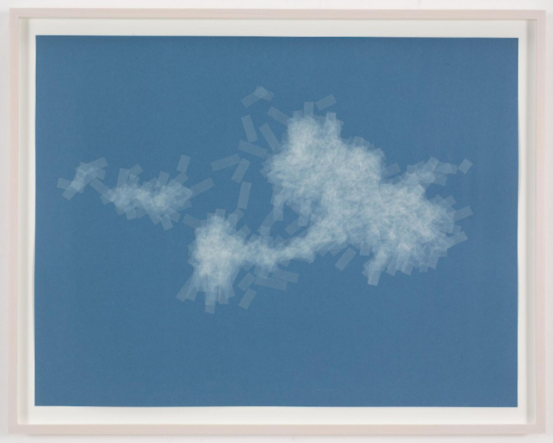 , SPENCER FINCH, Cloud (cumulus humilis, Vermont, 2), 2014, Scotch tape on paper, Sheet: 19 3/4 x 25 1/2 in., Framed: 21 5/8 x 27 1/2 in.