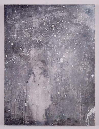 MANFREDI BENINATI, Leandra, 2001-2004, pencil and acrylic on paper on board, 31 7/8 x 23 5/8 inches