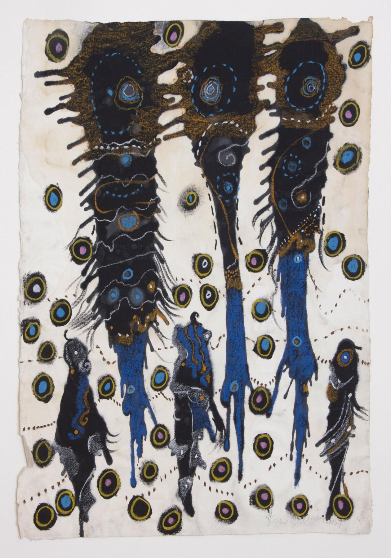 , LEE MULLICAN, Wedding Party, 1964, Mixed media, 24 1/2 x 20 in.