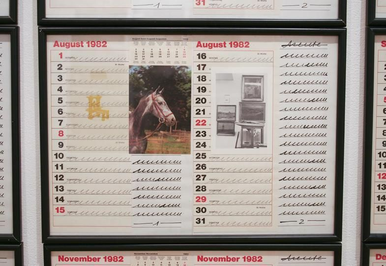 HANNE DARBOVEN 12 Months with Postcards from Today of Horses, 1982
